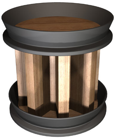 Wooden Plug with an Octagonal Core Design