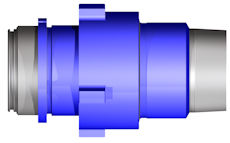 extra high-pressure (XHP) quick coupling nut