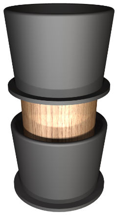 Wooden Plug with Solid Core