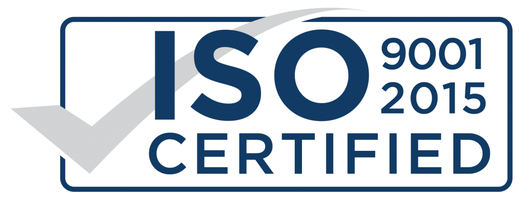 ISO 9001 and 2015 Certified
